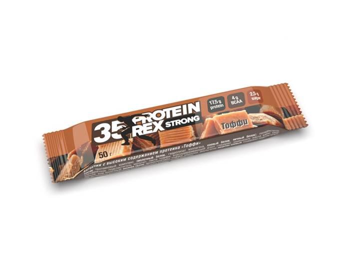 Купить Батончик с высоким содержанием протеина «тоффи», 50 гр.