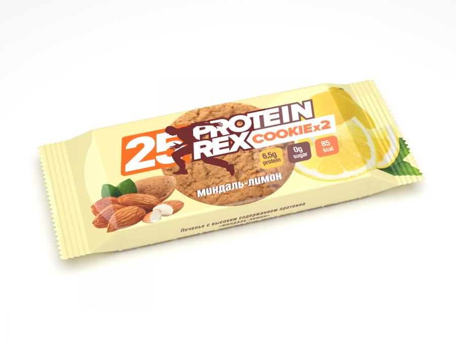 Купить Печенье с высоким содержанием протеина «Миндаль-Лимон», 50 гр.