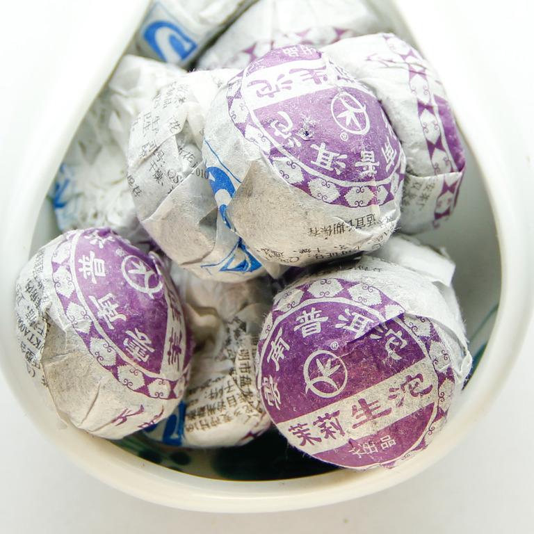Купить Зелёный Шен Пуэр с жасмином (Моли Хуа Мини То) 1 шт. - 5 гр.