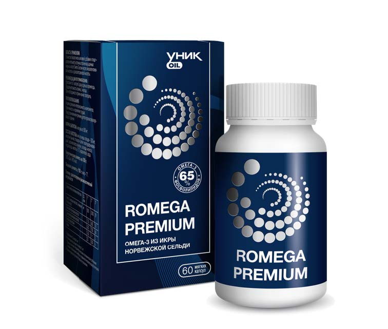 Купить Ромега 15 Премиум (Омега-3 из икры сельди), 0.1 кг/Натуральный