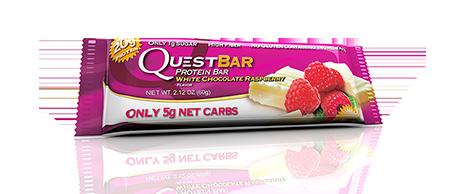 Купить Батончик QuestBar White Chocolate Raspberry