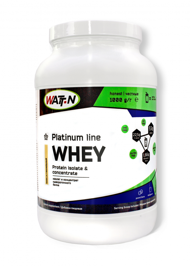 Купить WHEY PROTEIN ISOLATE & CONCENTRATE/Протеин Изолят Концентрат - Клубника, 0.9 кг/Клубника
