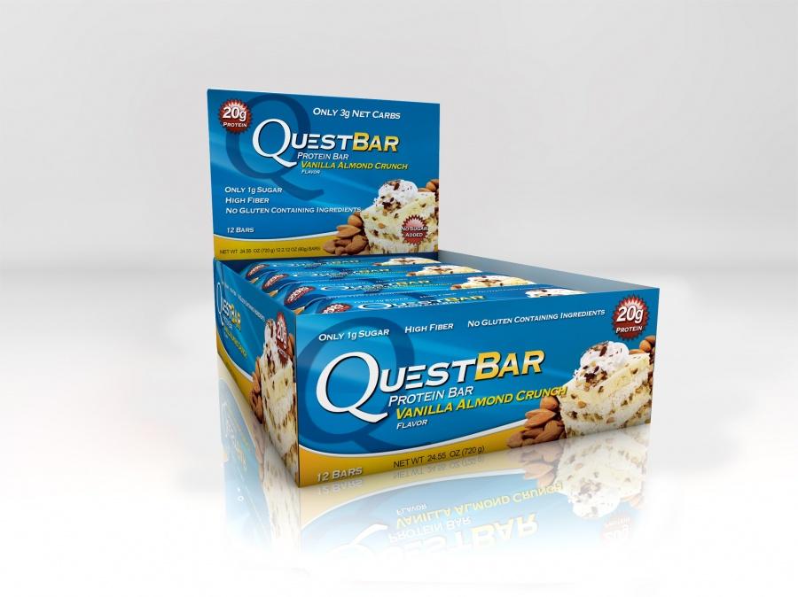 Купить Батончик QuestBar Vanilla Almond Crunch