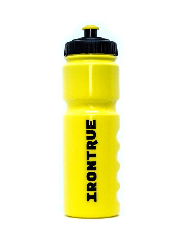 Купить Бутылка IRONTRUE на 750 мл. жёлтая с чёрной крышкой, Нет/Нет