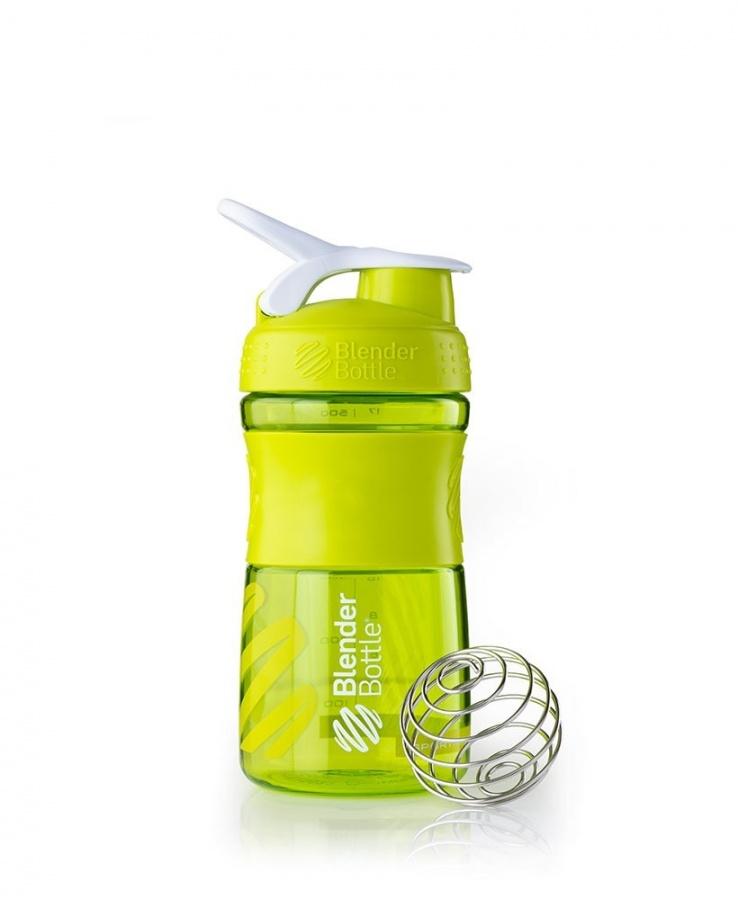 Купить Бутылка - шейкер SportMixer 500 ml, Цвет зеленый