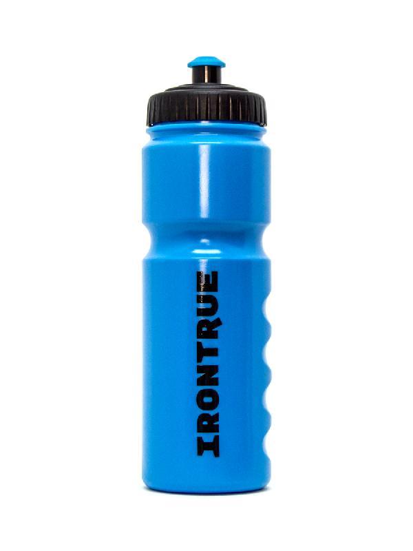 Купить Бутылка IRONTRUE на 750 мл. голубая с чёрной крышкой, Нет/Нет