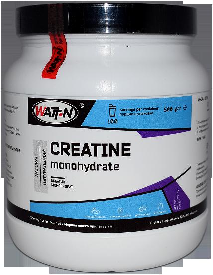 Купить Креатин моногидрат, в банке, 0.5 кг/Натуральный